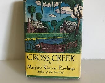 First Edition Cross Creek Book, by Marjorie Kinnan Rawlings, 1942 A