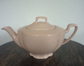 Johnson Brothers Rosedawn teapot - utility china teapot - vintage pink teapot - 1940s pink teapot