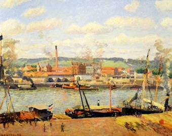 Pissarro view of the Oissel cotton placemat