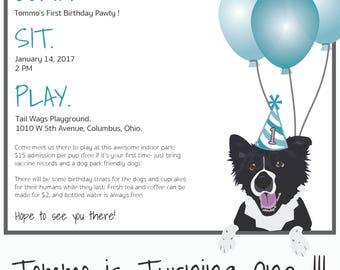Pet Pawty Invites