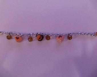 Orange Fimo Cake Bracelet