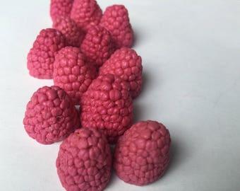 Raspberry Soap Embeds/ made of glycerin soap