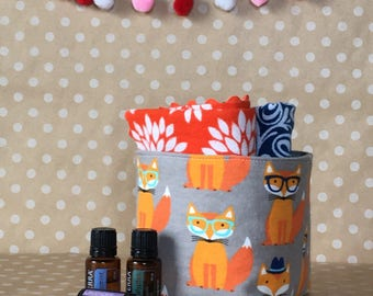 Mini Storage Tote. Nursery Supply Storage. Baby Room Organization. Baby Boy Gift Basket. Gift Under 15. Navy Nursery Decor Nursery Organizer