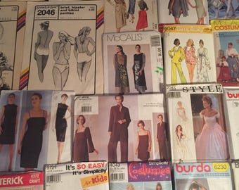 Vintage Lot Of Sewing Patterns (38): All Uncut Except Four
