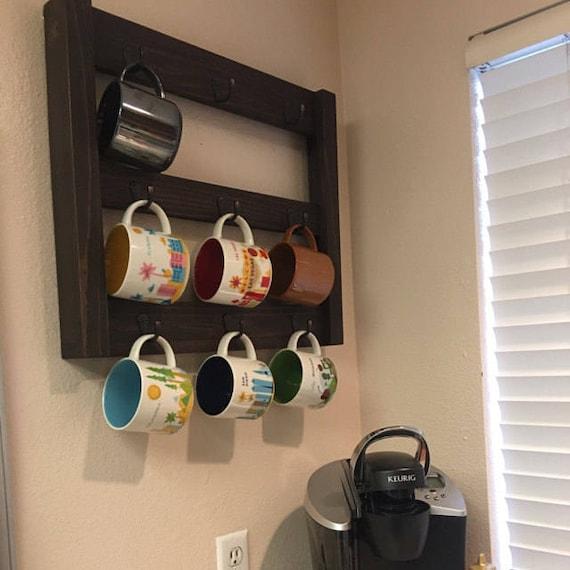 Coffee Mug Rack   Coffee Mug Holder   Coffee Cup Holder   Kitchen Wall  Decor   Cup Rack   Home Decor   Cup Holder   Coffee Cup Storage