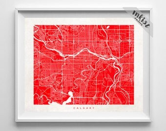 Canada map art Etsy