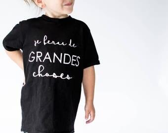 Long unisex kids tshirt - i will do great things - tie dye print
