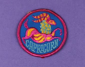 Capricorn Zodiac Sign Vintage 1970s NOS Patch
