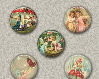 80 % off Summer Sale Digital Fairies and Elves Collage Sheet Flower Fairies Images for Pendants Pocket Mirror,Magnets, Buttons. Cupcake Topp