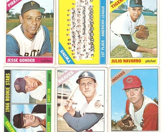 1966 Topps 6 Card Rare High Number Lot VG