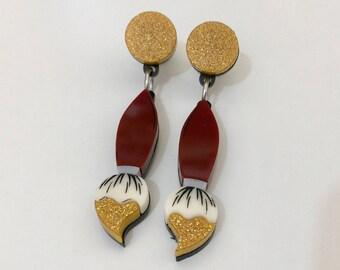 Dipped Paint Brush Earrings