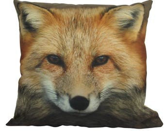 Brilliant Fox Face Photograph - Pillow Cover