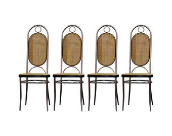 SET OF 4 Art Deco Thonet Style Dining Chairs