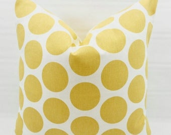SALE Yellow Saffron Pillow Cover. Fancy Yellow Saffron Print Pillow cover. Yellow and white  Pillow Case. 1 piece.  cotton. Select your size