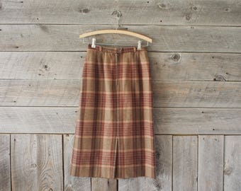SALE vintage plaid wool skirt