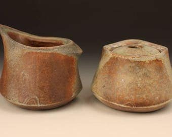 Creamer and Sugar Set / Woodfired / Stoneware / Will McComb