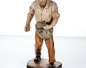 """Joseph ALBL Oberammergau hand carved figure 9 1/4"""""""