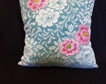 Floral Lace Decorative Pillow