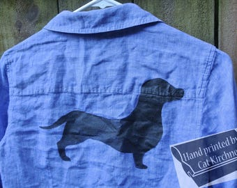 Dachshund Blue Relaxed Top