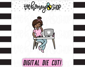 PRINTABLE DIE CUTS | All Skin Colors Included | Planner Babe Die Cuts