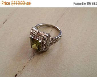 Holiday SALE 85 % OFF Green Amethyst  Size 6 Ring Gemstone. 925 Sterling  Silver  Etsy Gift Sale