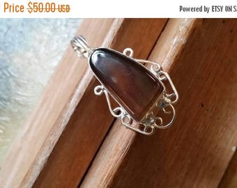 Holiday SALE 85 % OFF Agate Pendant  Gemstones  . 925 Sterling Silver