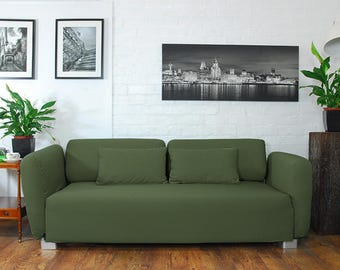Slip cover to fit the ikea Mysinge 2 seat sofa OLIVE