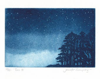 Trees II - Tree Etching by Jennifer Rampling