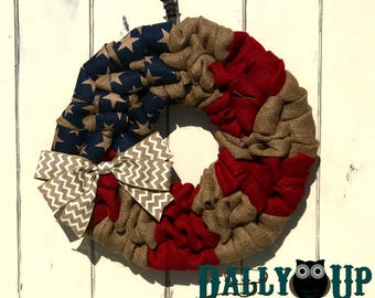Burlap Wreath - Red Wreath  - Every day Burlap Wreath - Country Burlap Wreaths, Wreath for All Year, Welcome Wreath, Door Burlap Wretah