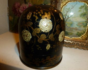 Beautiful Antique Cigarette Humidor 1930's