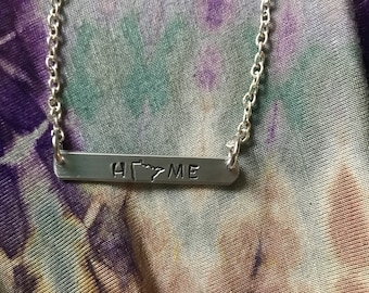 Personalized State Or Custom Bar Necklace