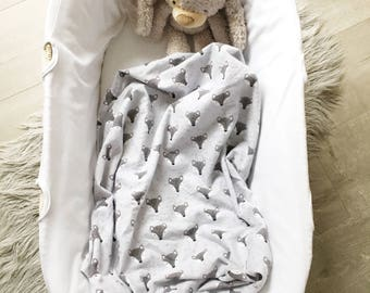 Baby Flannel Wrap - Flannel Swaddle - Fox Faces