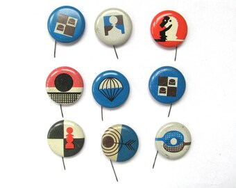 Kinds of sport, Pick your pin, Children's badges, Vintage metal badge, Soviet Vintage Pin, Soviet Union, Made in USSR, 1980s