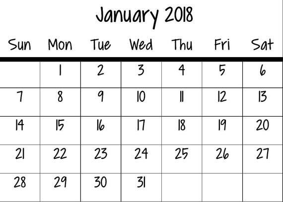 printable small calendar 2018 calendar 2018