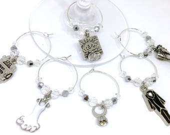 Just Married Wine Charms