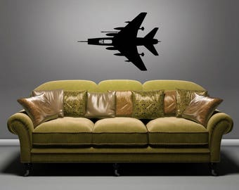 F-100 Super Sabre - TOP - Removable Wall Art Vinyl Decal / Sticker