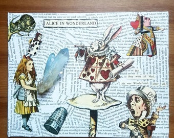 Mixed Media Alice in Wonderland Canvas - Alice