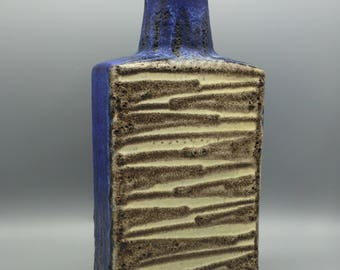Scheurich  281 - 30  stylish design,  Fat Lava vintage Mid Century Modern rectangular  vase  1960s West Germany Pottery . WGP.