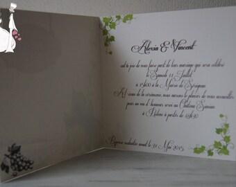 Share wedding vineyard and wine making