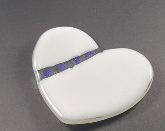Heart Ring Dish Shape /FusedGlass /Personalised /Wedding Gift/ Handmade