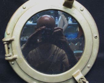 Antique ship's BRASS PORT HOLE / Window / Porthole