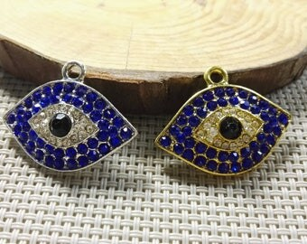 Rhinestone  Evil Eye Pendants,    Evil eye jewelry , Turkish Jewelry , Turkish Charms .  God's Eye ,  Wholesale Evil Eye Jewelry ,