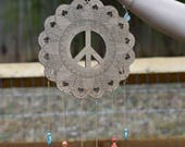 Peace Sign Mandala Wall Hanging