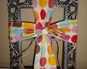 Fabric Cross on Metal Frame