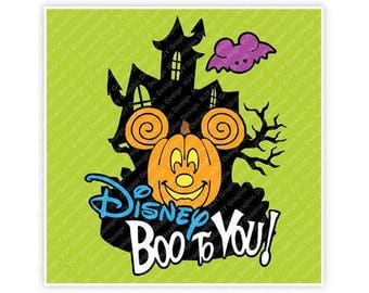 Disney, Halloween, Mickey, Minnie, Jack-O-Lantern, Pumpkin, Boo, Bat, Ears, Illustration, TShirt Design, Cut File, svg, pdf, eps, png, dxf