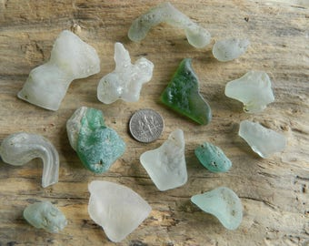 Bonfire sea glass pieces in assorted colours
