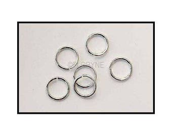 10 large open 15 mm aluminum silver rings