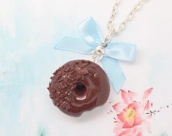chocolate donut necklace
