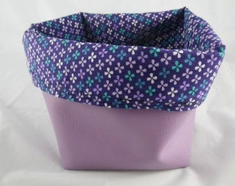 Corbeille011 - Lilac and purple pattern basket flowers