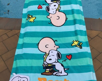 Peanuts Best Friends Bath Towel set - Personalized Charlie Brown Snoopy Towel set